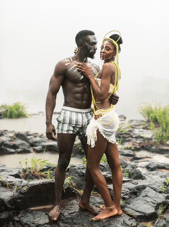Black Panther Inspired African Wedding Ideas – Livingstone Island – Zambia – Love From Mwai – Stepan Vrzala 11