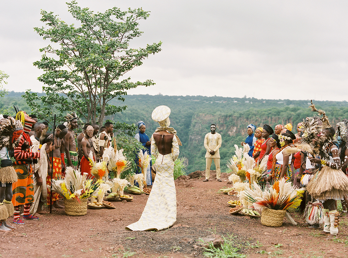 Black Panther Inspired African Wedding Ideas – Livingstone Island – Zambia – Love From Mwai – Stepan Vrzala 125