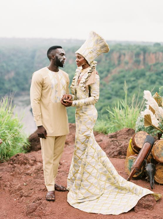 Black Panther Inspired African Wedding Ideas – Livingstone Island – Zambia – Love From Mwai – Stepan Vrzala 145