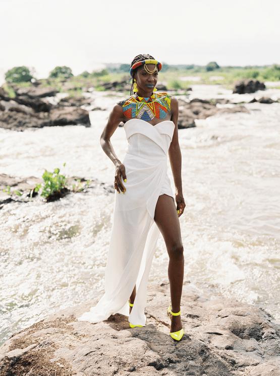 Black Panther Inspired African Wedding Ideas – Livingstone Island – Zambia – Love From Mwai – Stepan Vrzala 44