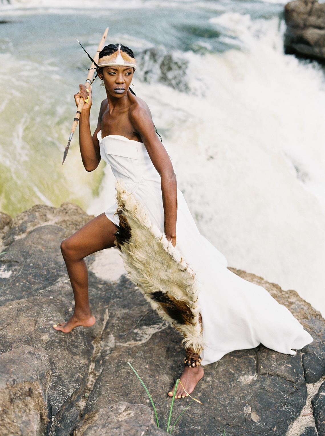 Black Panther Inspired African Wedding Ideas – Livingstone Island – Zambia – Love From Mwai – Stepan Vrzala 63