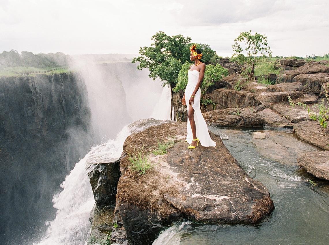 Black Panther Inspired African Wedding Ideas – Livingstone Island – Zambia – Love From Mwai – Stepan Vrzala 69