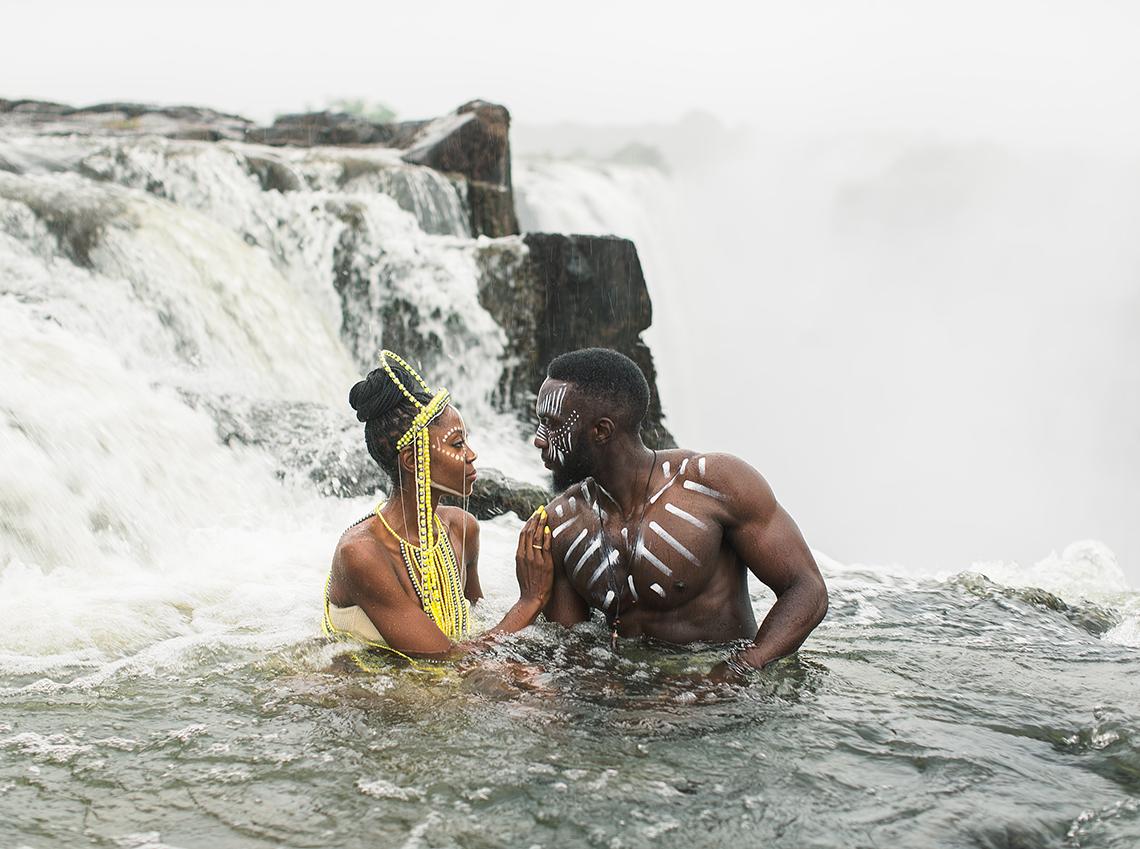 Black Panther Inspired African Wedding Ideas – Livingstone Island – Zambia – Love From Mwai – Stepan Vrzala 7