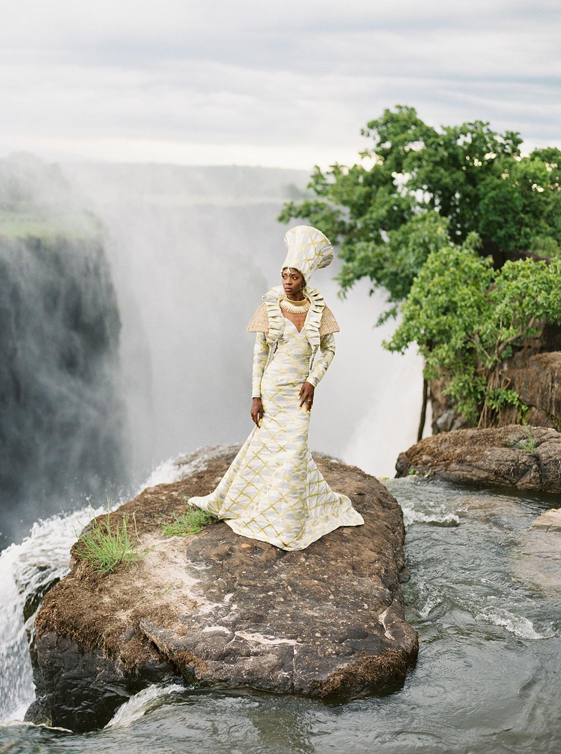 Black Panther Inspired African Wedding Ideas – Livingstone Island – Zambia – Love From Mwai – Stepan Vrzala 86