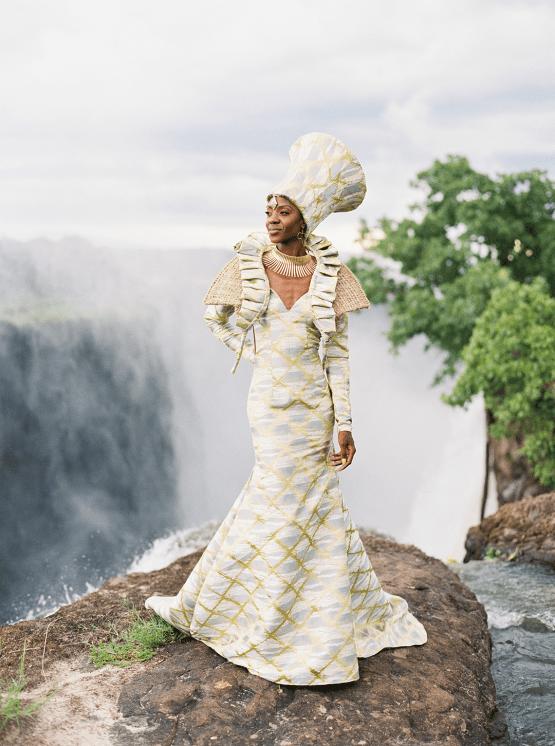 Black Panther Inspired African Wedding Ideas – Livingstone Island – Zambia – Love From Mwai – Stepan Vrzala 87
