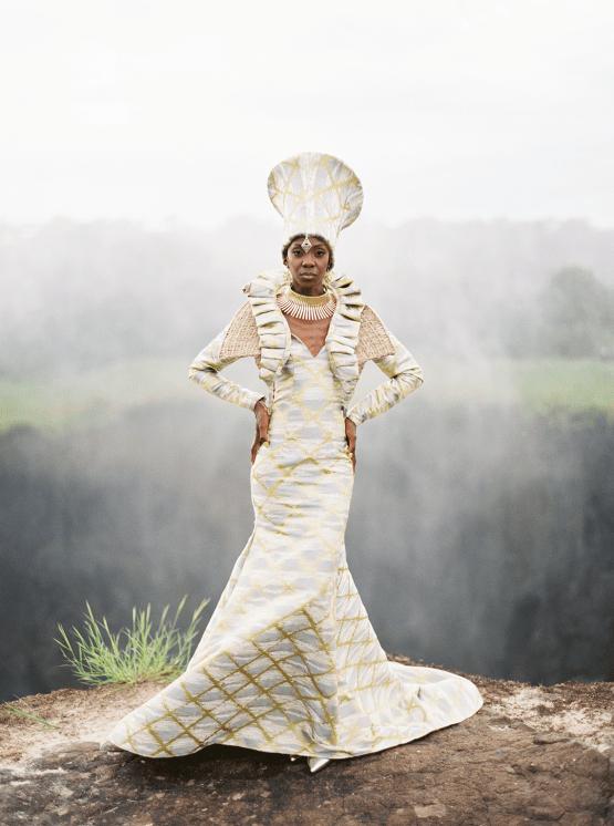 Black Panther Inspired African Wedding Ideas – Livingstone Island – Zambia – Love From Mwai – Stepan Vrzala 93