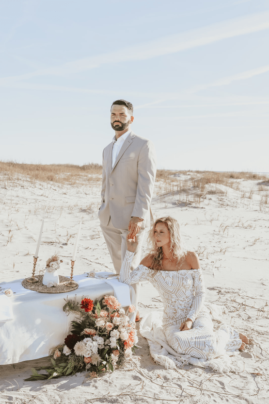 Bohemian Beach Wedding Inspiration With Agave Decor – Georgia Grace – Salt and Stem 13