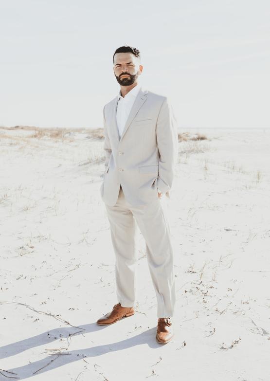 Bohemian Beach Wedding Inspiration With Agave Decor – Georgia Grace – Salt and Stem 20