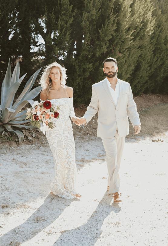 Bohemian Beach Wedding Inspiration With Agave Decor – Georgia Grace – Salt and Stem 27