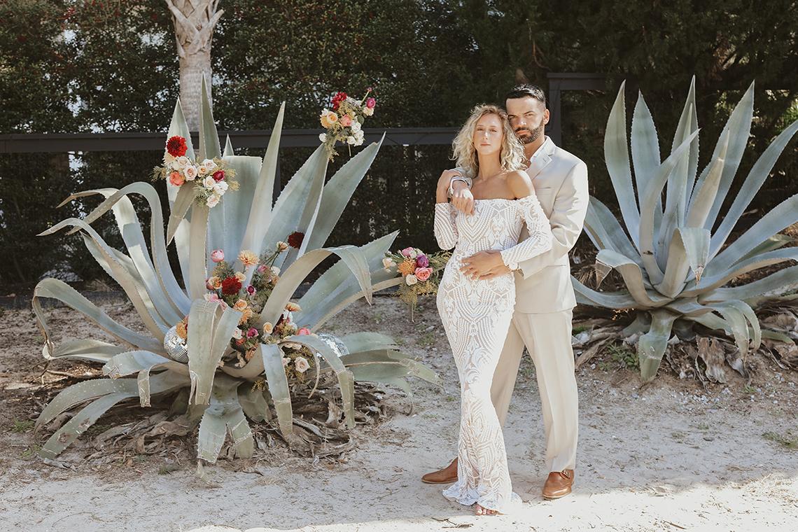 Bohemian Beach Wedding Inspiration With Agave Decor – Georgia Grace – Salt and Stem 3