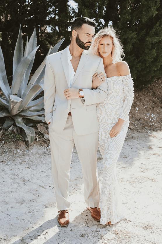 Bohemian Beach Wedding Inspiration With Agave Decor – Georgia Grace – Salt and Stem 35