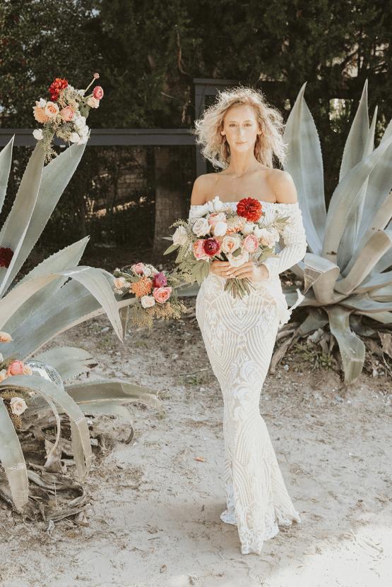 Bohemian Beach Wedding Inspiration With Agave Decor – Georgia Grace – Salt and Stem 36