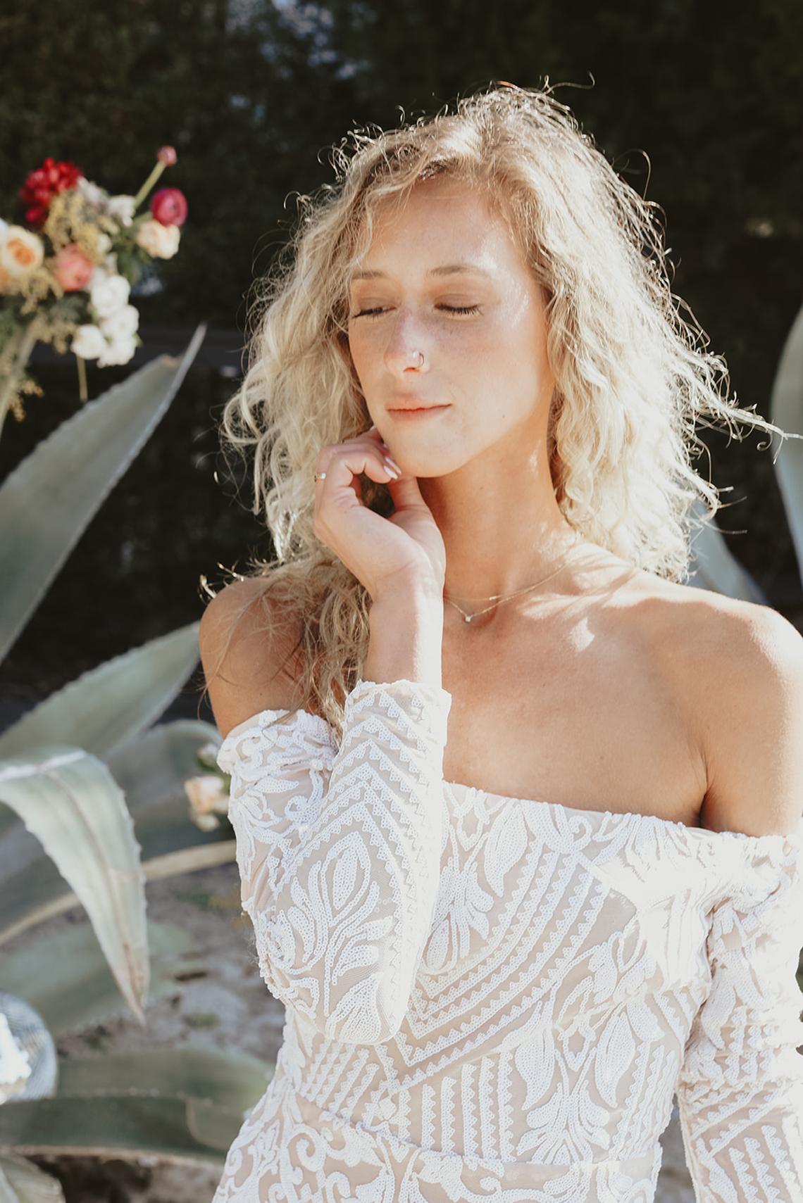 Bohemian Beach Wedding Inspiration With Agave Decor – Georgia Grace – Salt and Stem 38
