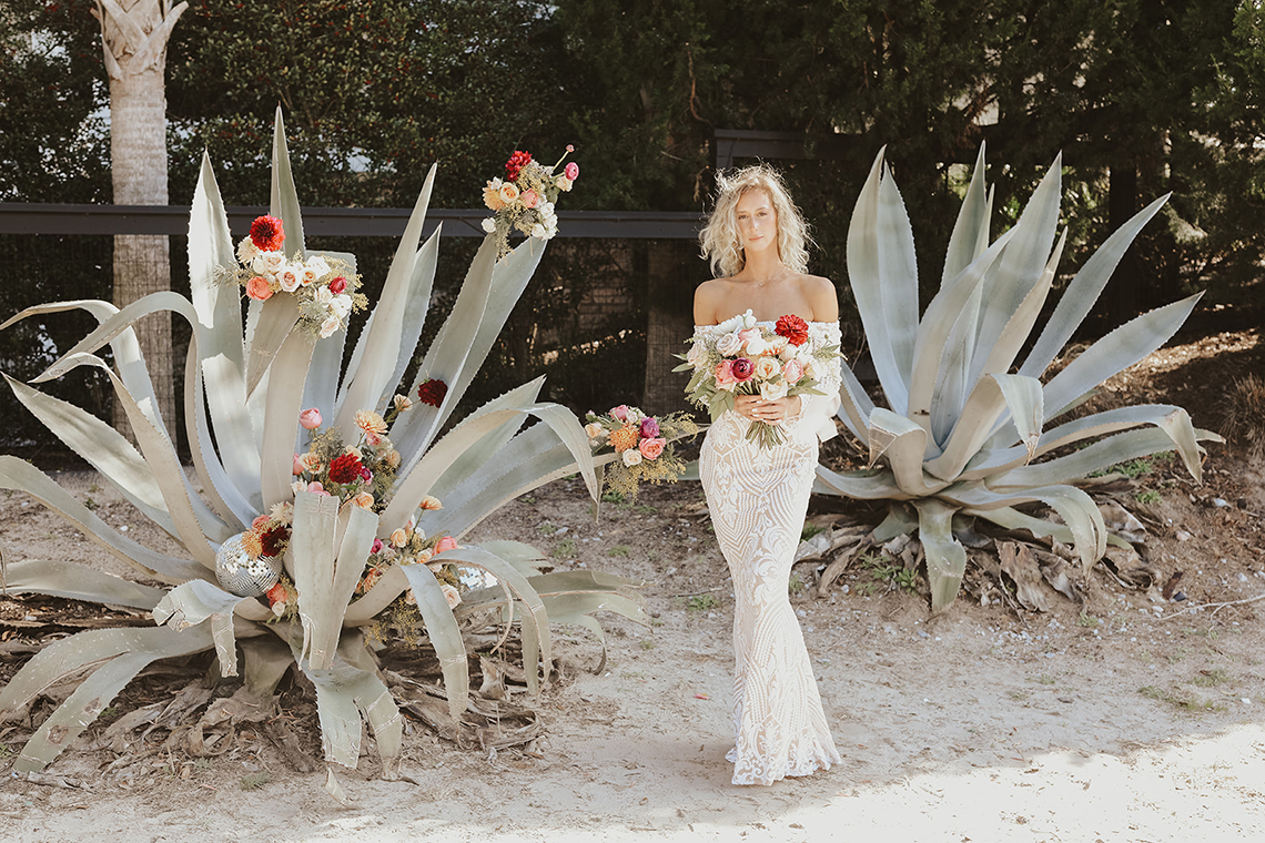 Bohemian Beach Wedding Inspiration With Agave Decor – Georgia Grace – Salt and Stem 4