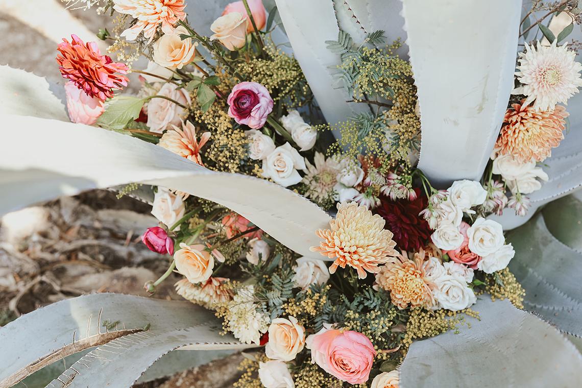 Bohemian Beach Wedding Inspiration With Agave Decor – Georgia Grace – Salt and Stem 5
