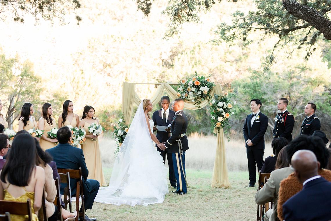 Glamorous Military Wedding in Texas – Angela Lally Photography 1