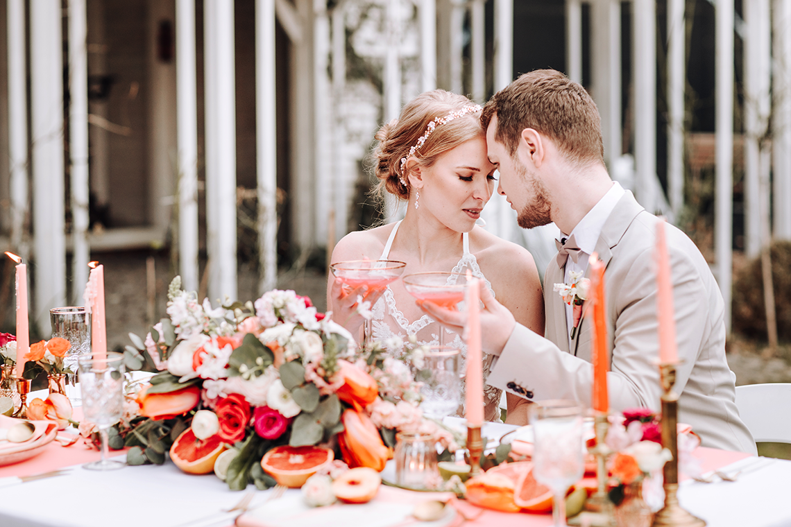 Citrus and Peach Spring Wedding Inspiration from Germany – Time for Wedding – Eine Liebe Lang Hochzeitsfotografin 40