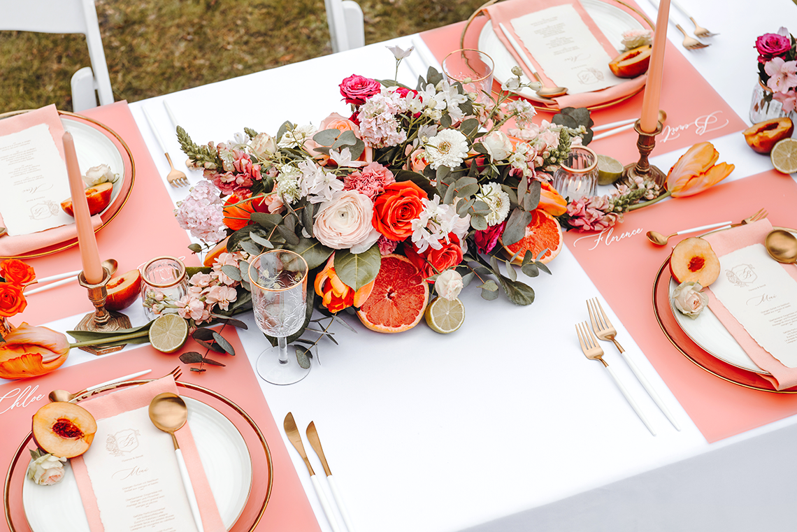 Citrus and Peach Spring Wedding Inspiration from Germany – Time for Wedding – Eine Liebe Lang Hochzeitsfotografin 45
