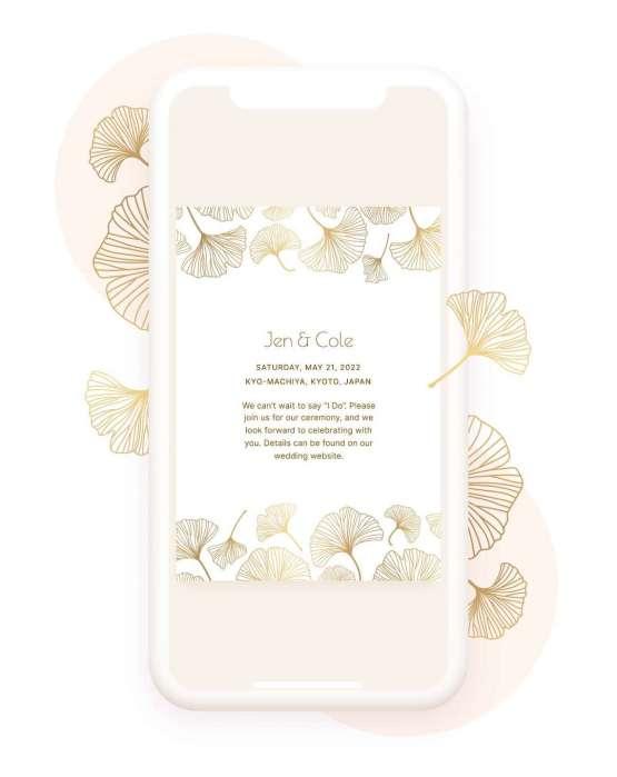 Our Favorite Free Wedding Website Builder and Registry – Joy – Bridal Musings – Digital Invite – Mobile Display