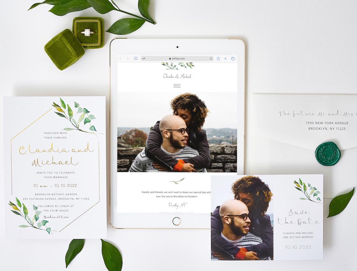 Our Favorite Free Wedding Website Builder and Registry – Joy – Bridal Musings – Garden Window Theme – 1