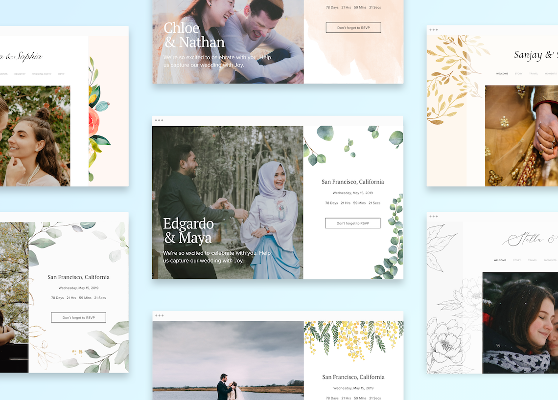 Our Favorite Free Wedding Website Builder and Registry – Joy – Bridal Musings – Website Themes – 1