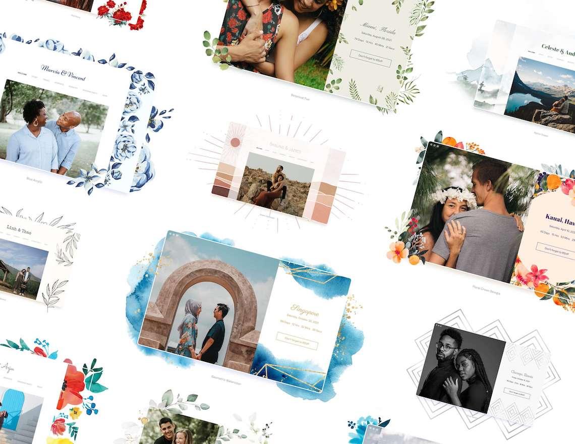 Our Favorite Free Wedding Website Builder and Registry – Joy – Bridal Musings – Website Themes – 2