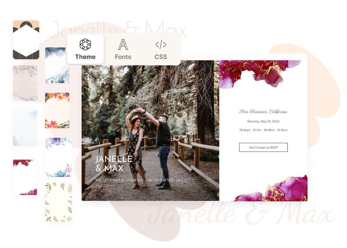 Our Favorite Free Wedding Website Builder and Registry – Joy – Bridal Musings – Wedding Website Editor