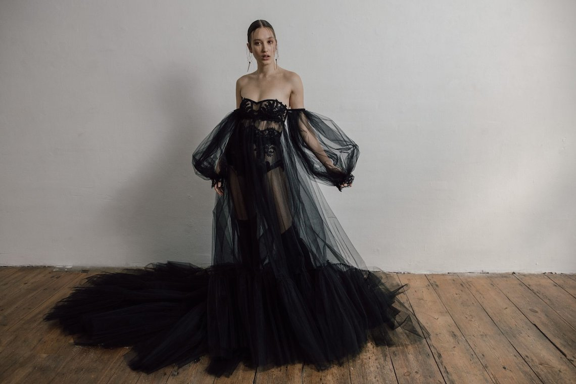 Shadow Black Wedding Dress by Ritual Unions – Fashion-forward Ballgowns for the Alternative Cool Bride 2