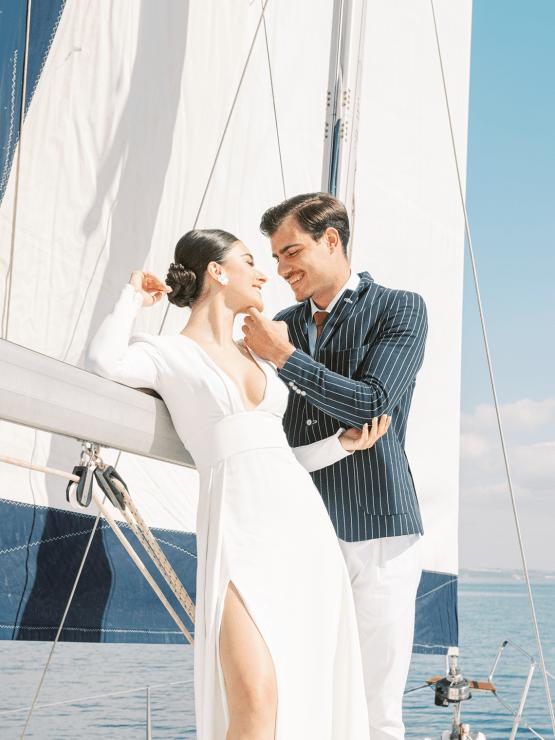 Vintage Greek Sailboat Elopement Inspiration – Andreas K. Georgiou 11