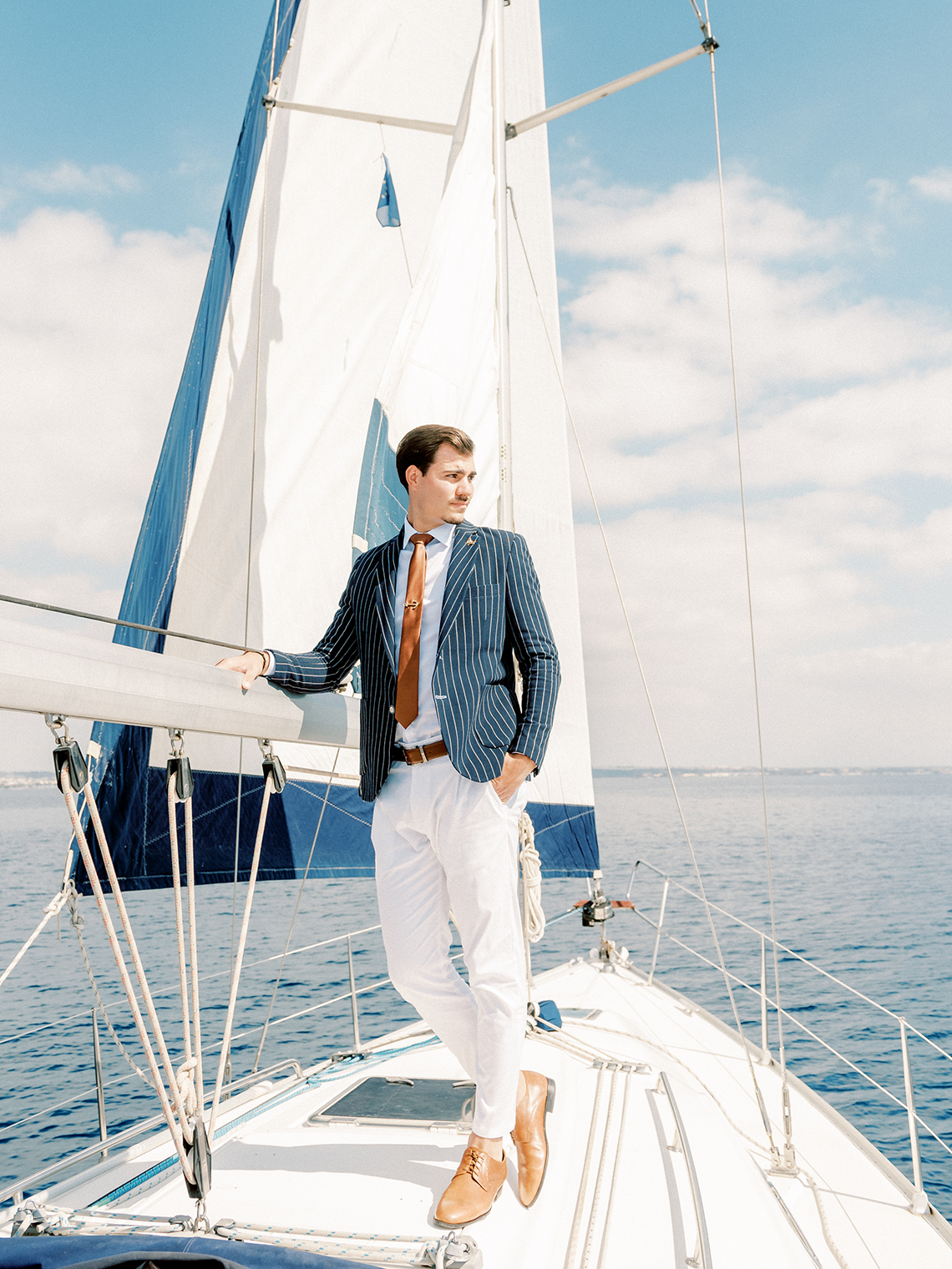 Vintage Greek Sailboat Elopement Inspiration – Andreas K. Georgiou 12