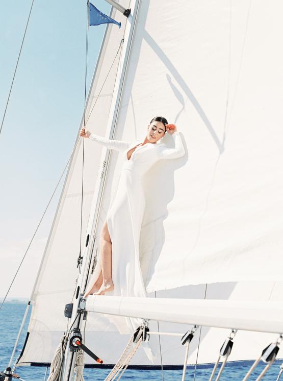 Vintage Greek Sailboat Elopement Inspiration – Andreas K. Georgiou 24