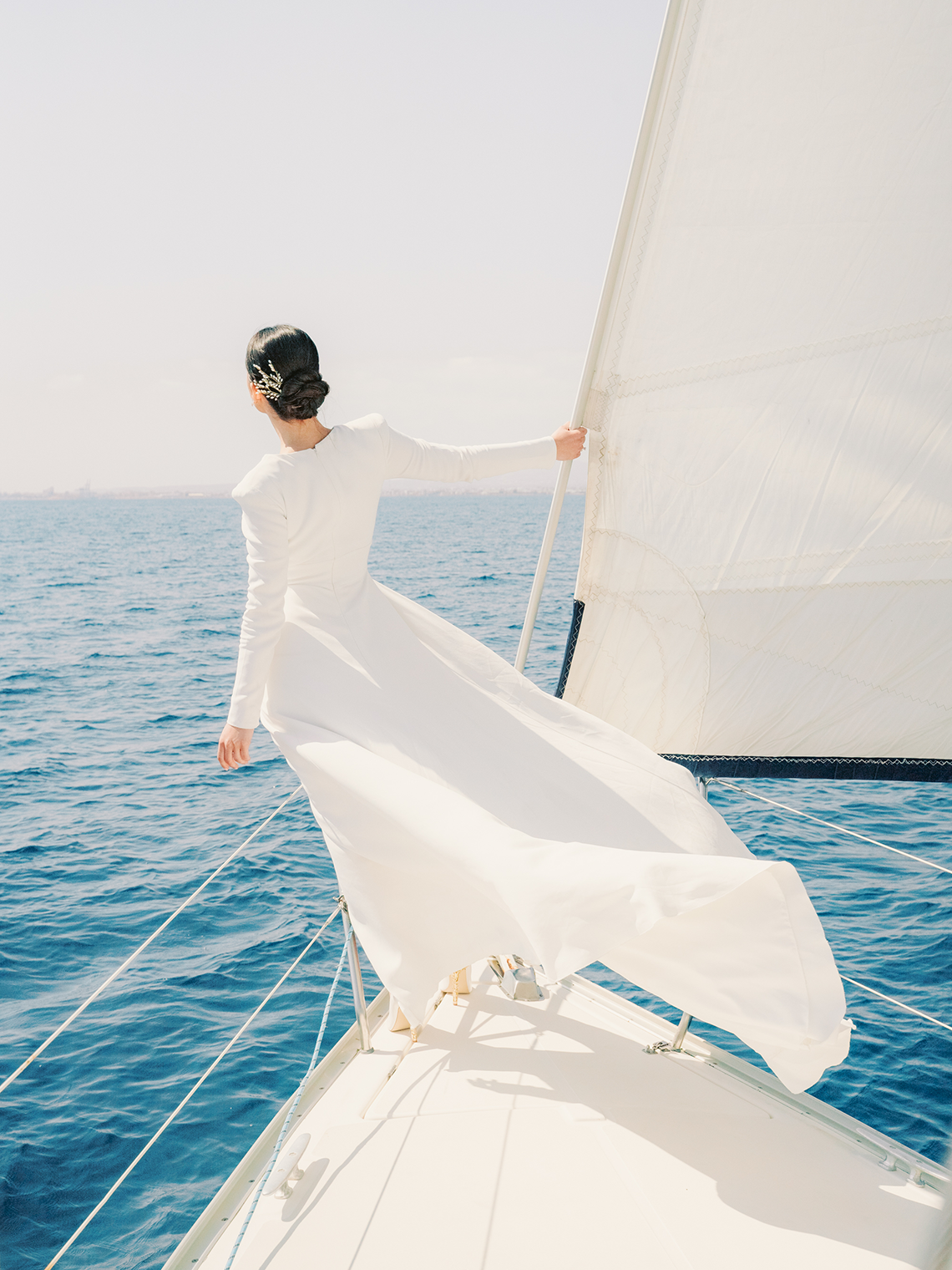 Vintage Greek Sailboat Elopement Inspiration – Andreas K. Georgiou 25