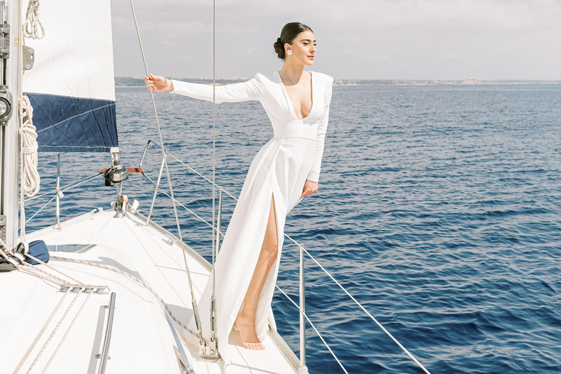 Vintage Greek Sailboat Elopement Inspiration – Andreas K. Georgiou 34