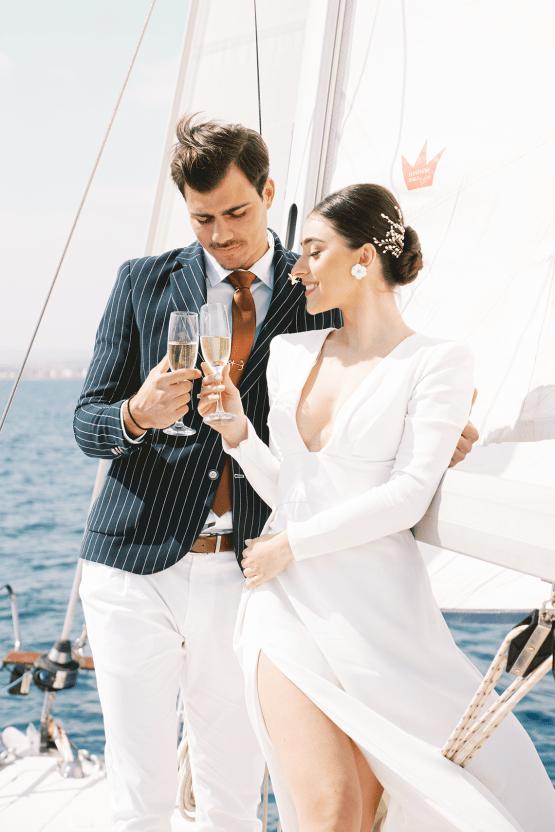 Vintage Greek Sailboat Elopement Inspiration – Andreas K. Georgiou 4
