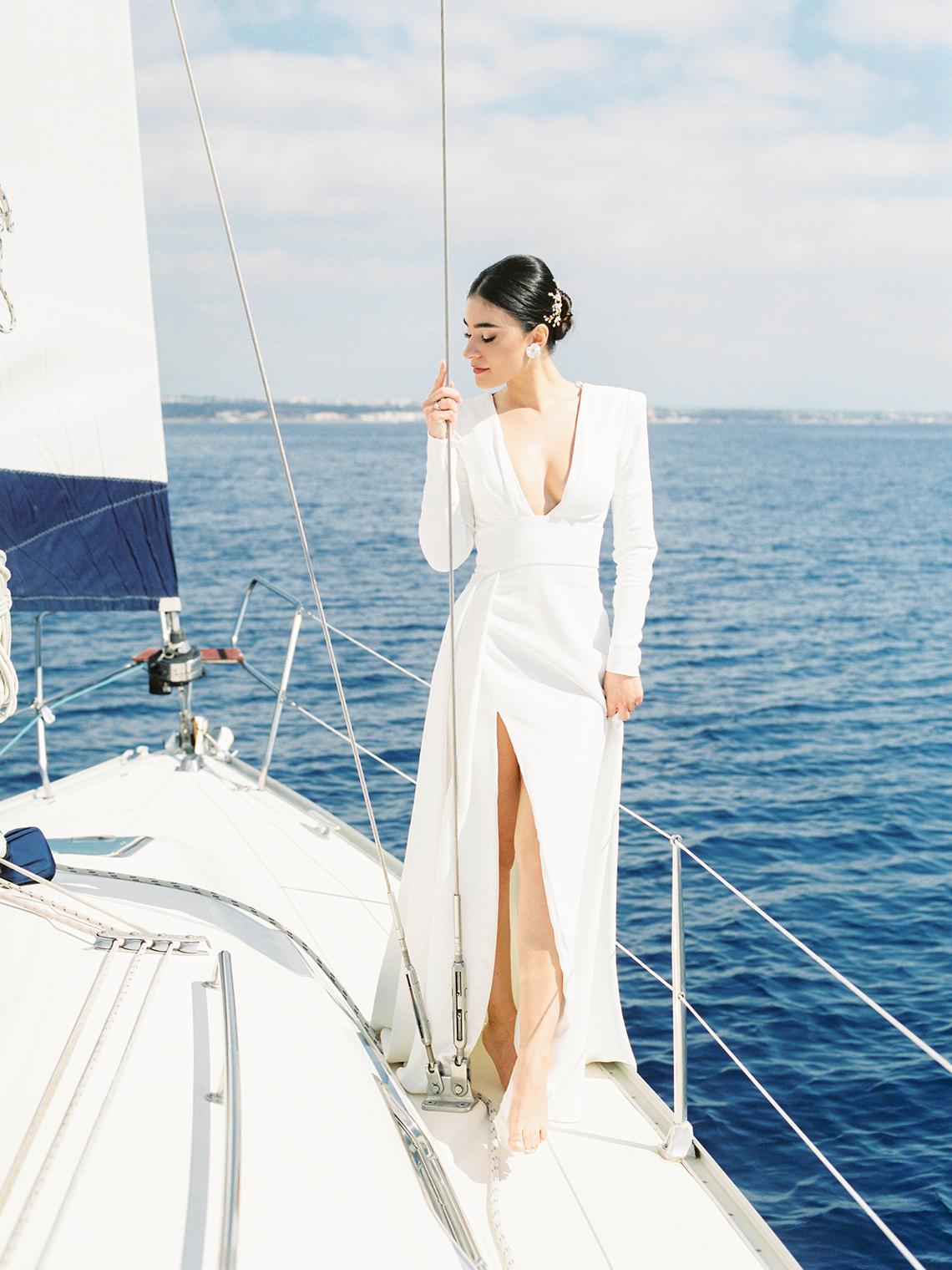 Vintage Greek Sailboat Elopement Inspiration – Andreas K. Georgiou 6