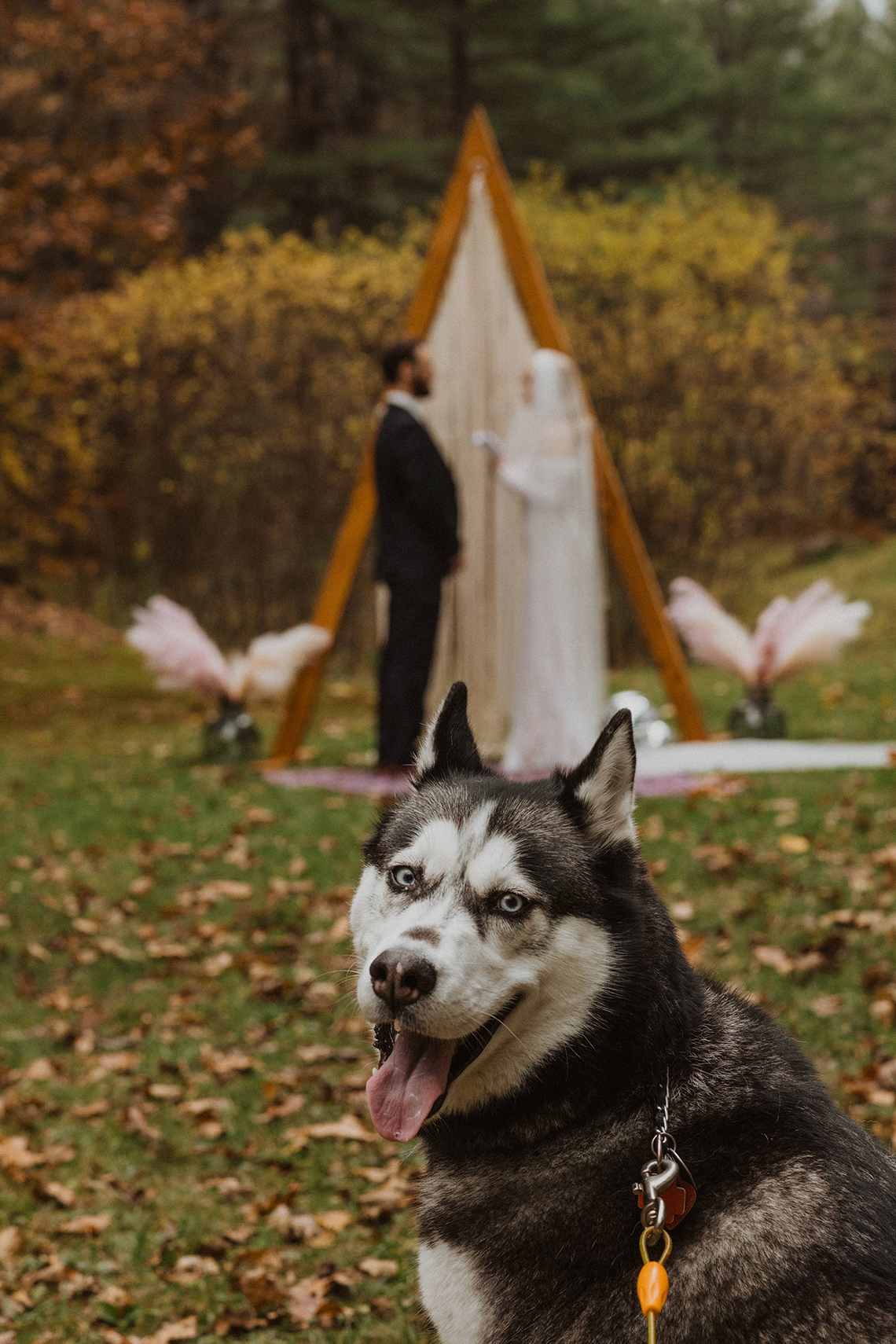 Woodsy Boho Cabin Wedding Inspiration in New Hampshire – Haus of Gravity – Compass Collective 27