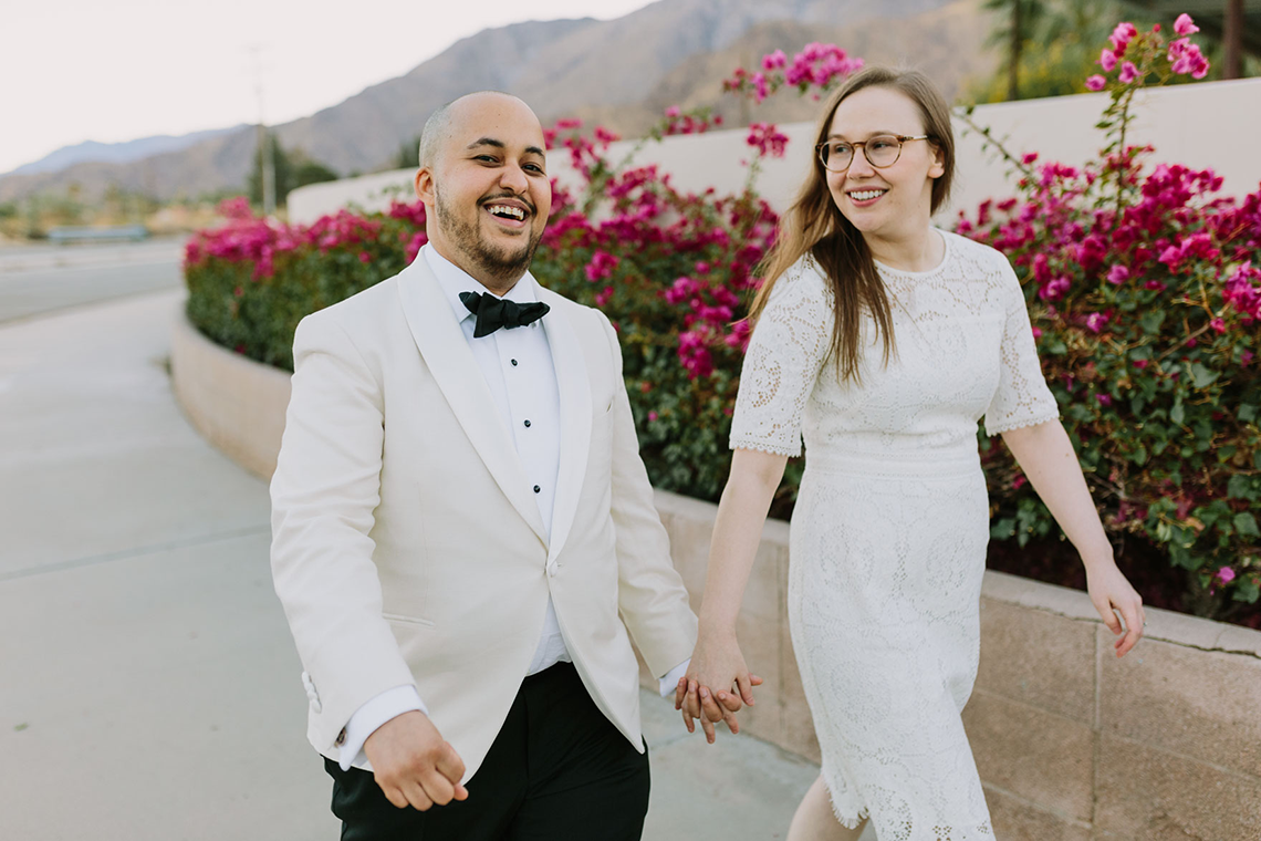 Stylish and Modern Covid-Safe Private Elopement in Palm Springs – Lets Frolic Together Photography 18