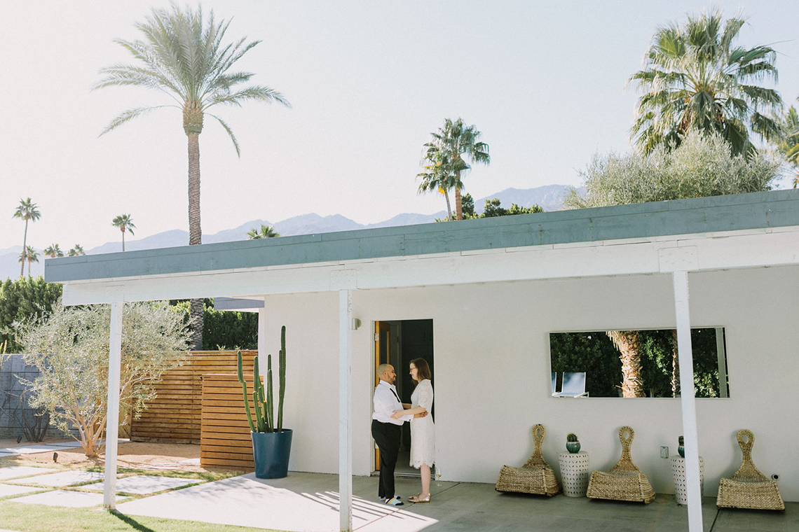 Stylish and Modern Covid-Safe Private Elopement in Palm Springs – Lets Frolic Together Photography 5
