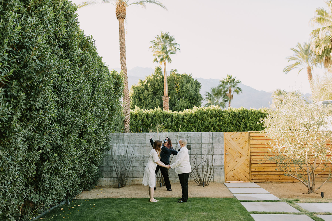 Stylish and Modern Covid-Safe Private Elopement in Palm Springs – Lets Frolic Together Photography 8