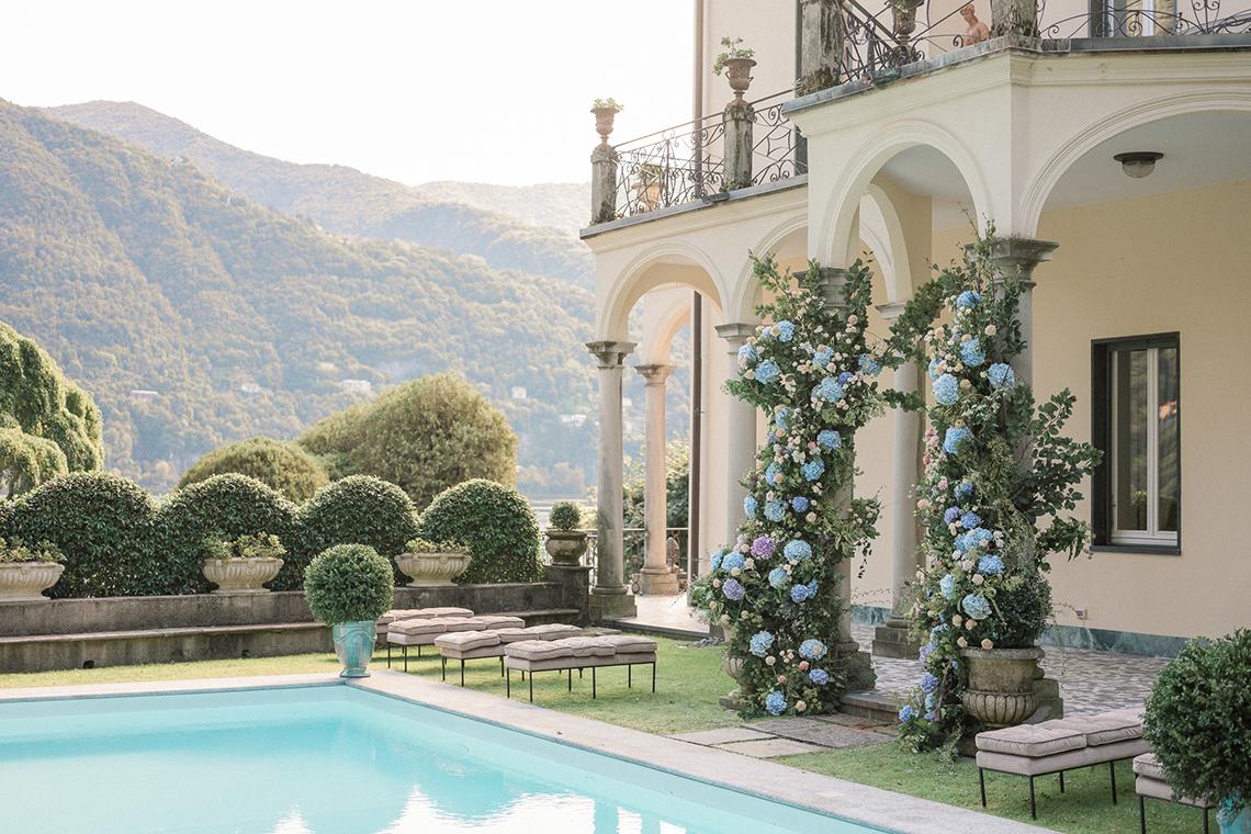 Romantic Something Blue Micro Wedding filled with Hydrangeas at Villa Ortensia in Lake Como – Alessandro Colle e Serena Rossi 2