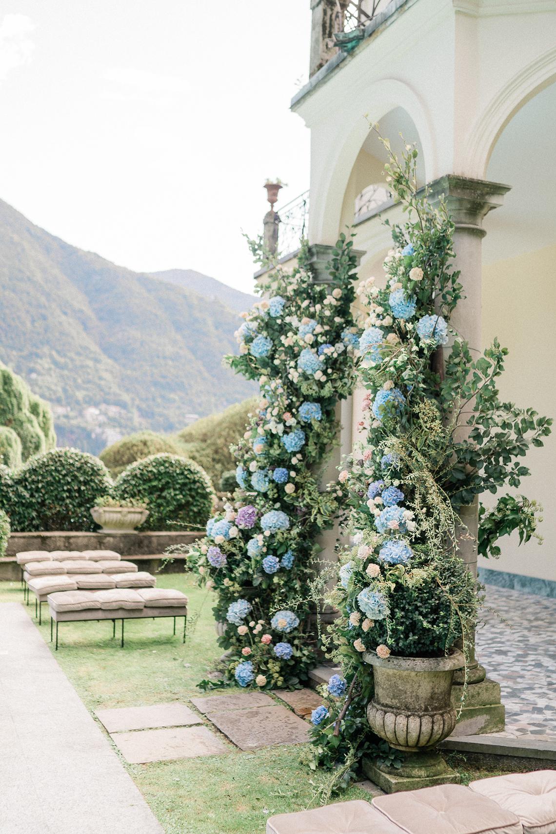 Romantic Something Blue Micro Wedding filled with Hydrangeas at Villa Ortensia in Lake Como – Alessandro Colle e Serena Rossi 20