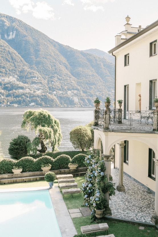 Romantic Something Blue Micro Wedding filled with Hydrangeas at Villa Ortensia in Lake Como – Alessandro Colle e Serena Rossi 23