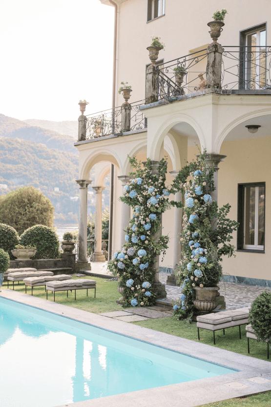 Romantic Something Blue Micro Wedding filled with Hydrangeas at Villa Ortensia in Lake Como – Alessandro Colle e Serena Rossi 26