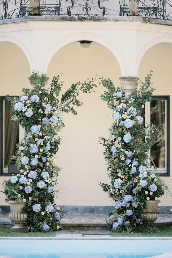 Romantic Something Blue Micro Wedding filled with Hydrangeas at Villa Ortensia in Lake Como – Alessandro Colle e Serena Rossi 32