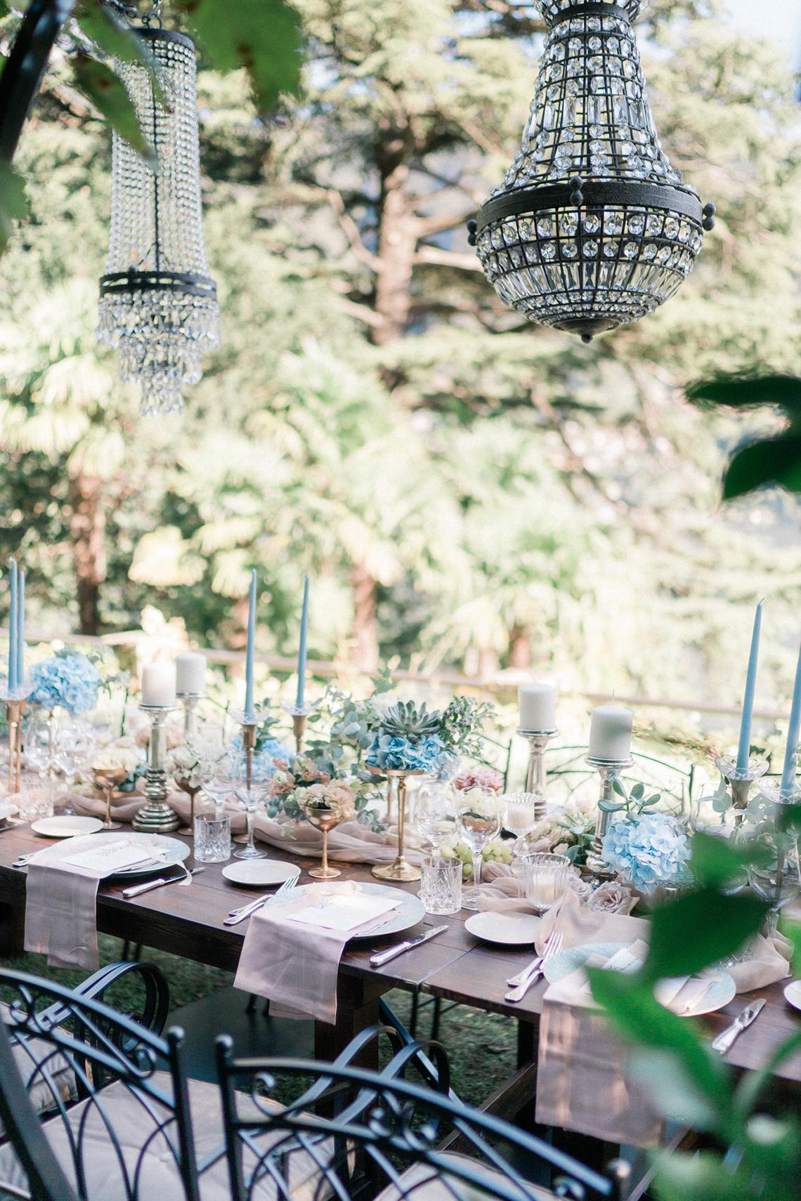 Romantic Something Blue Micro Wedding filled with Hydrangeas at Villa Ortensia in Lake Como – Alessandro Colle e Serena Rossi 52