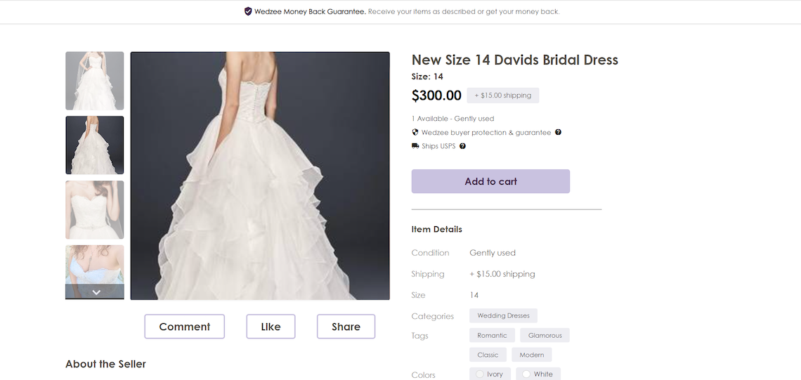 This New Resale Platform Is Like Etsy Meets Poshmark For Weddings – Wedzee – Bridal Musings 7
