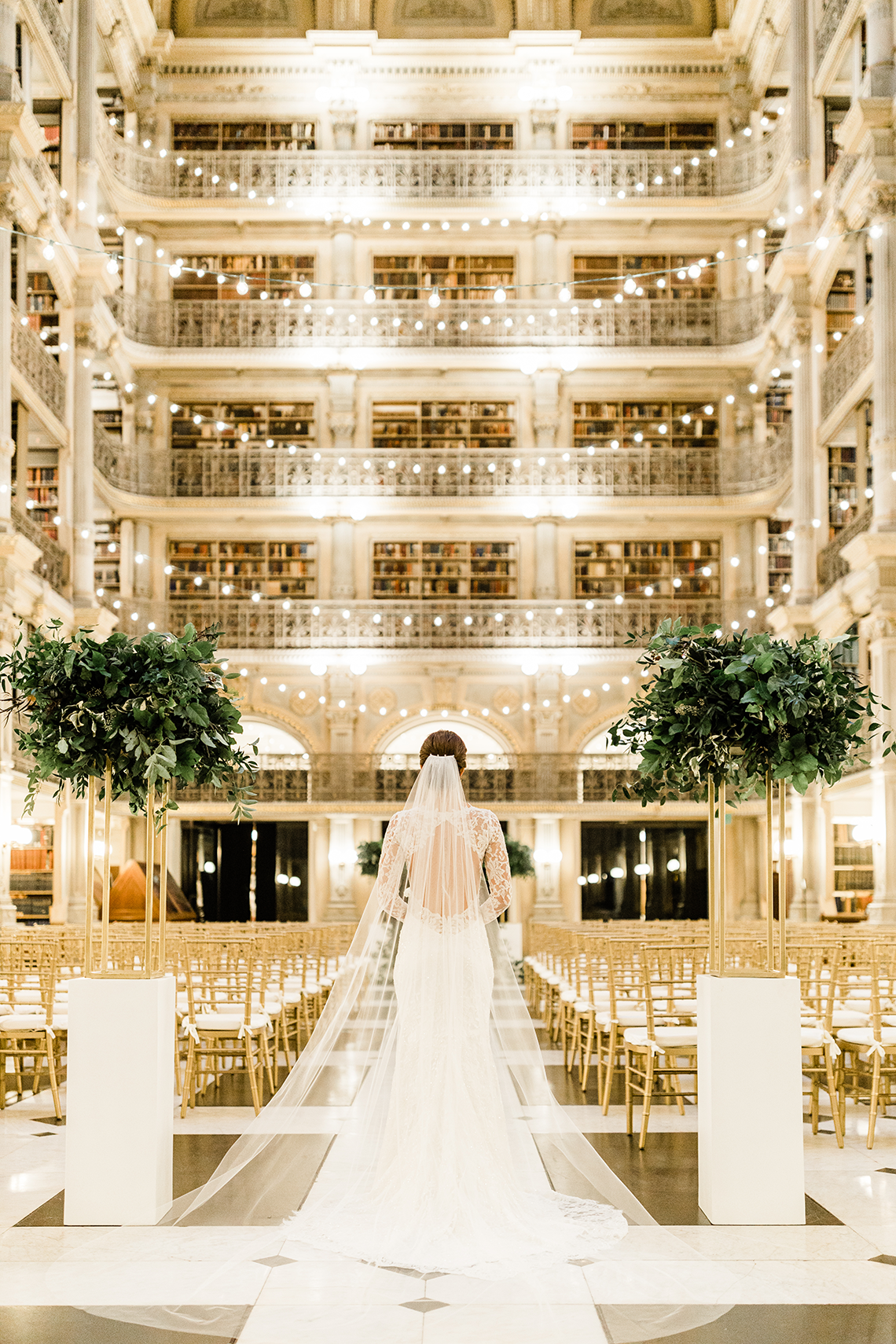 Glamorous Balitmore Library Wedding – George Peabody Library – Stephanie Axtell Photo and Video – Bridal Musings 53