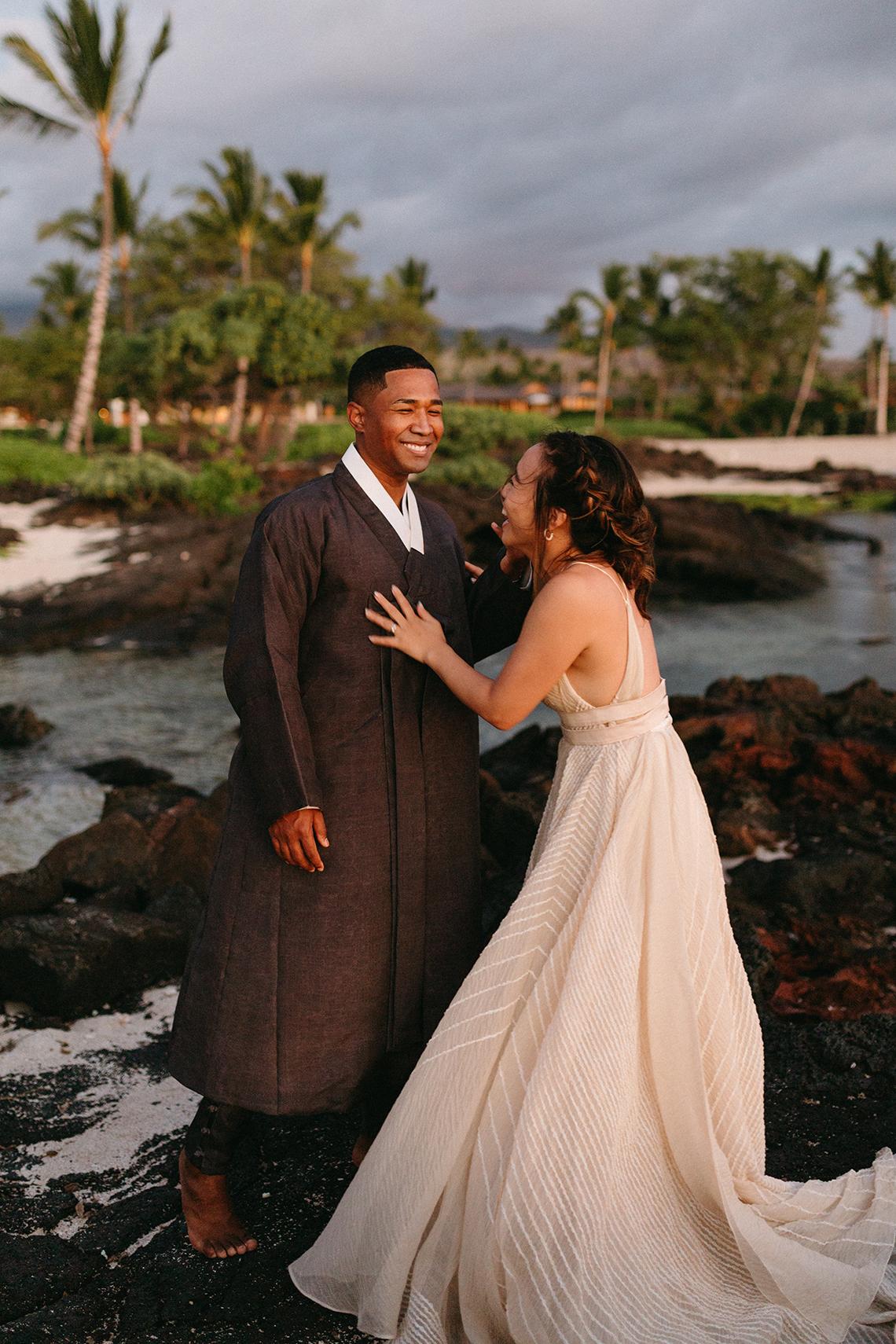 Korean Hawaiian Elopement with a Traditional Ceremony – Alyssa Luzaich Photography – Kukio Beach – Bridal Musings 61