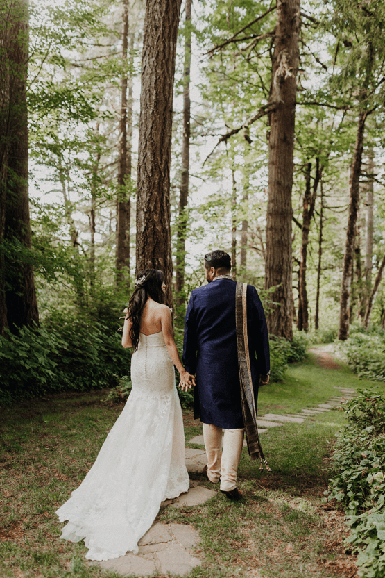 Multicultural Oregon Forest Wedding – Christy Cassano – Bridal Veil Lakes – Indian and Kiwi Influence – Bridal Musings 44
